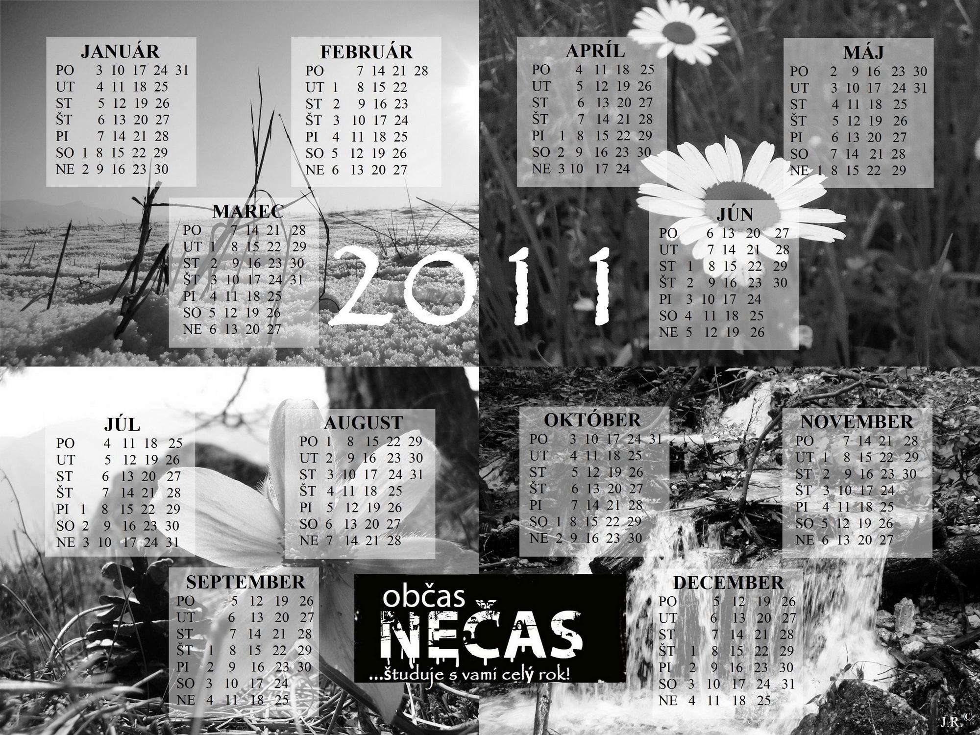 kalendár od Občasu nečasu na rok 2011