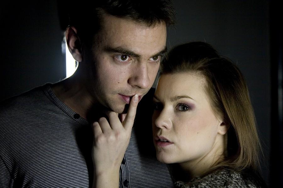 Alena s hereckým kolegom Matúšom krátkym v inscenácii LAVV