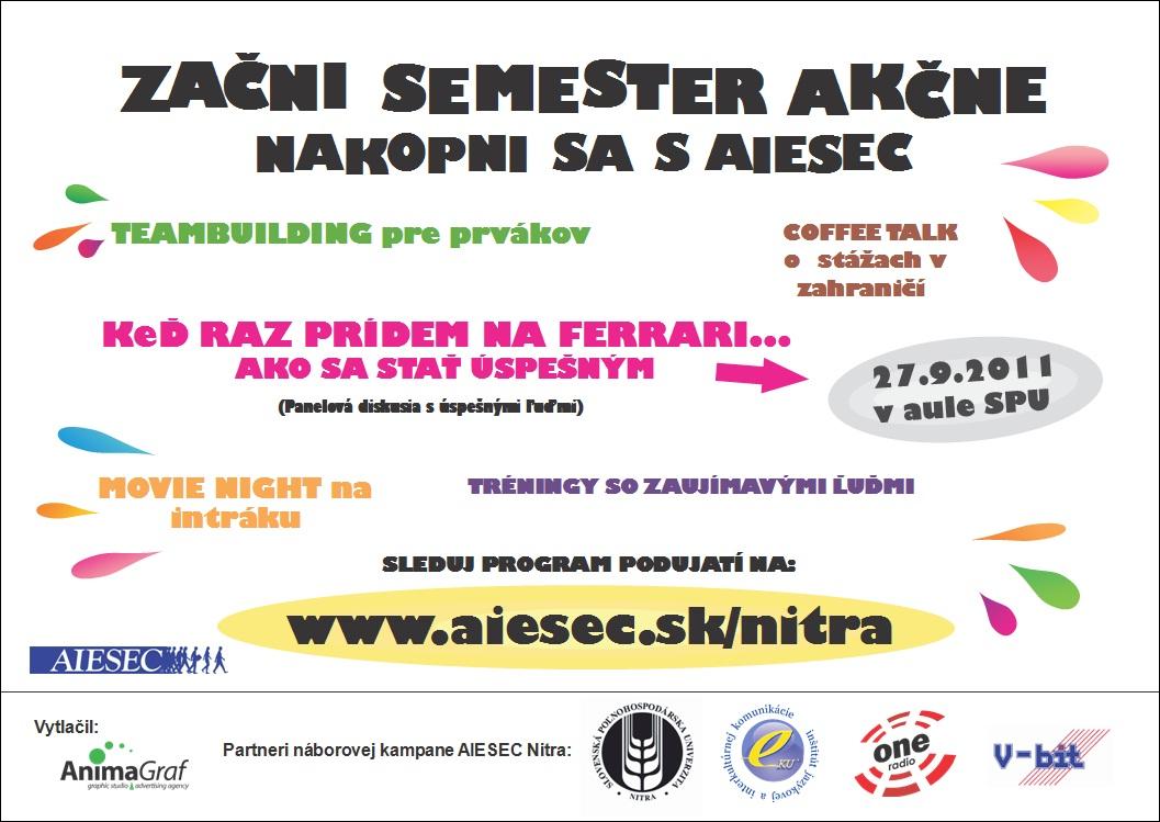 AIESEC plagát - podujatia