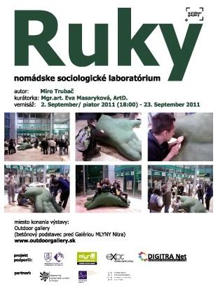 Outdoor gallery - Ruky, Miroslav Trubač