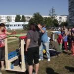 Obyvatelia nitrianskeho sídliska Chrenová si vďaka grantu postavili detské ihrisko.
