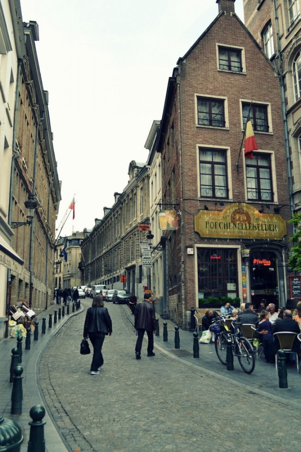 Bruselské uličky.