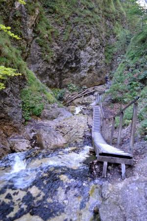 Rebríky v Jánošíkových dierach.