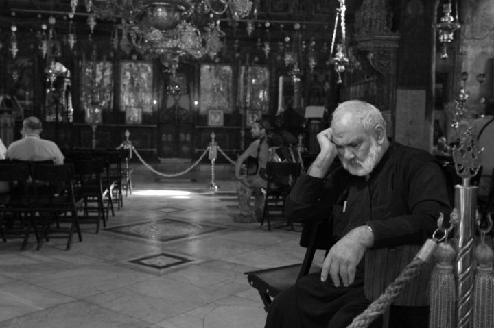 Betlehem.  Chrám narodenia pána na palestínskom území