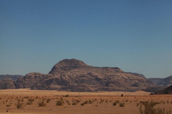 Jordánska púšť počas cesty do Wadi Rum