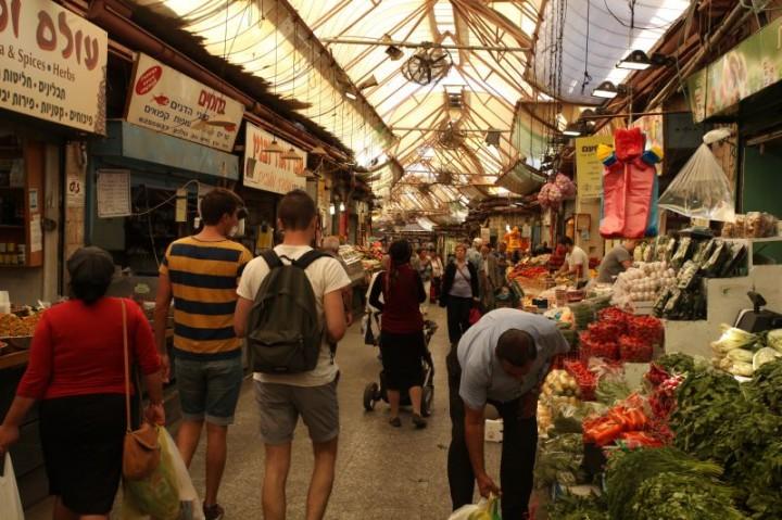 Trh v centre Jeruzalema
