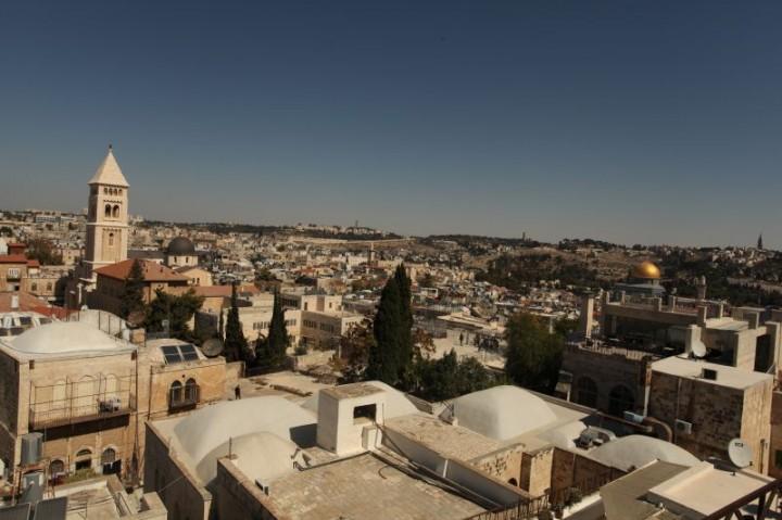Jeruzalem. Pohľad na Staré mesto