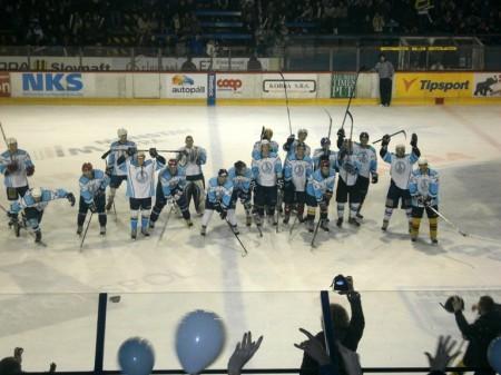 Víťazný tím hokejistov UKF