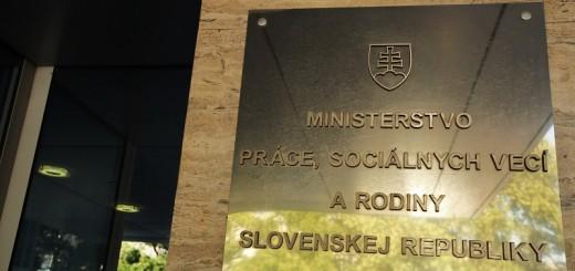Ministerstvo prace, socialnych veci a rodiny SR web