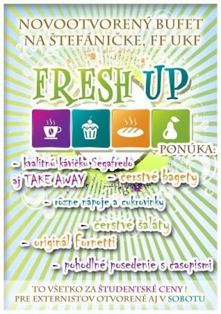 freshup bufet poster