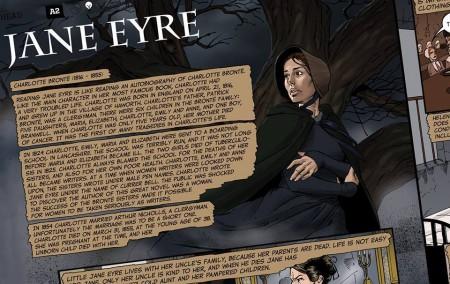 Jeden z komiksov, ktorý Brian vytvoril na motívy klasickej knihy Jana Eyrová