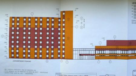 Vizualizácia objektu ŠD Nitra z prednej strany