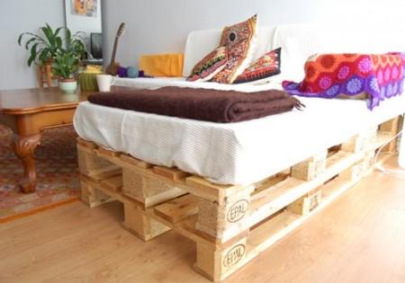 palety posteľ