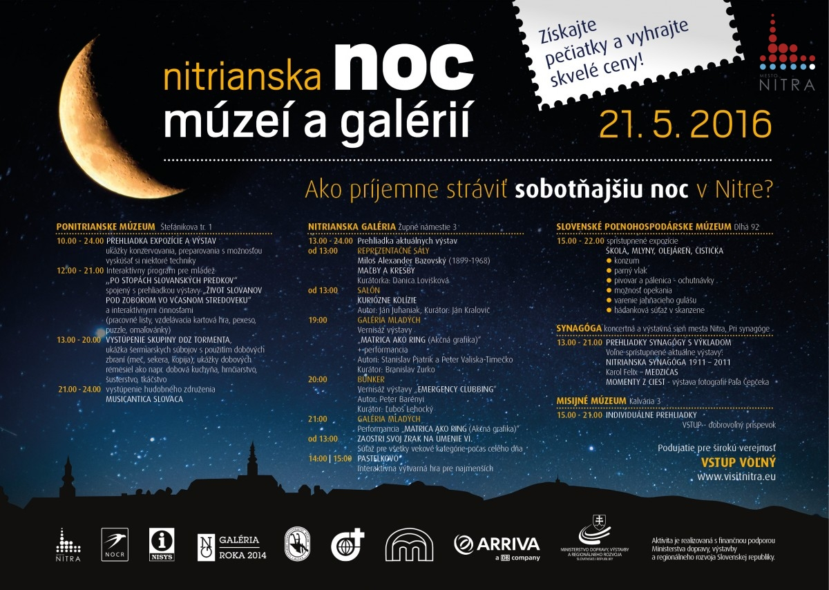 Kompletný program Noci múzeí a galérií 2016