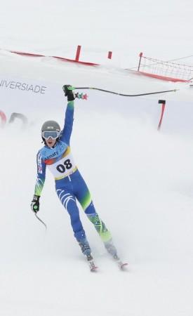 Barbara Kantorová po medailovej jazde neskrývala nadšenie. Zdroj: almaty2017.com
