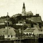 Hrad a Predmostie so starým korytom rieky, r. 1921