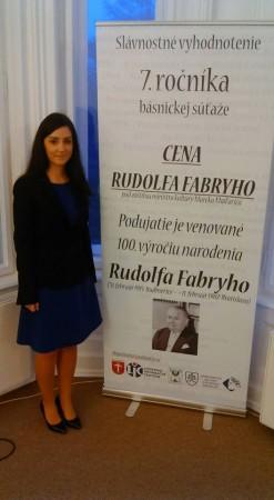 M. Pažmová na odovzdávaní Ceny Rudolfa Fabryho_2