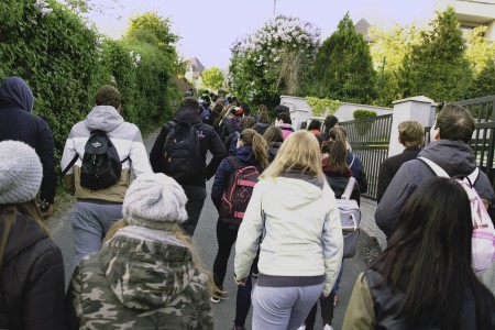 Pochodu sa zúčastnilo viac ako 200 ľudí.